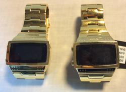 Heavy gold colored metal watch
