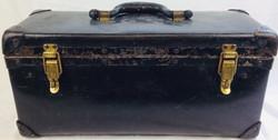 "William Ball Corporation Vintage black ""tool box shaped"" luggage"