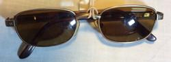 Gold metal framed period sunglasses