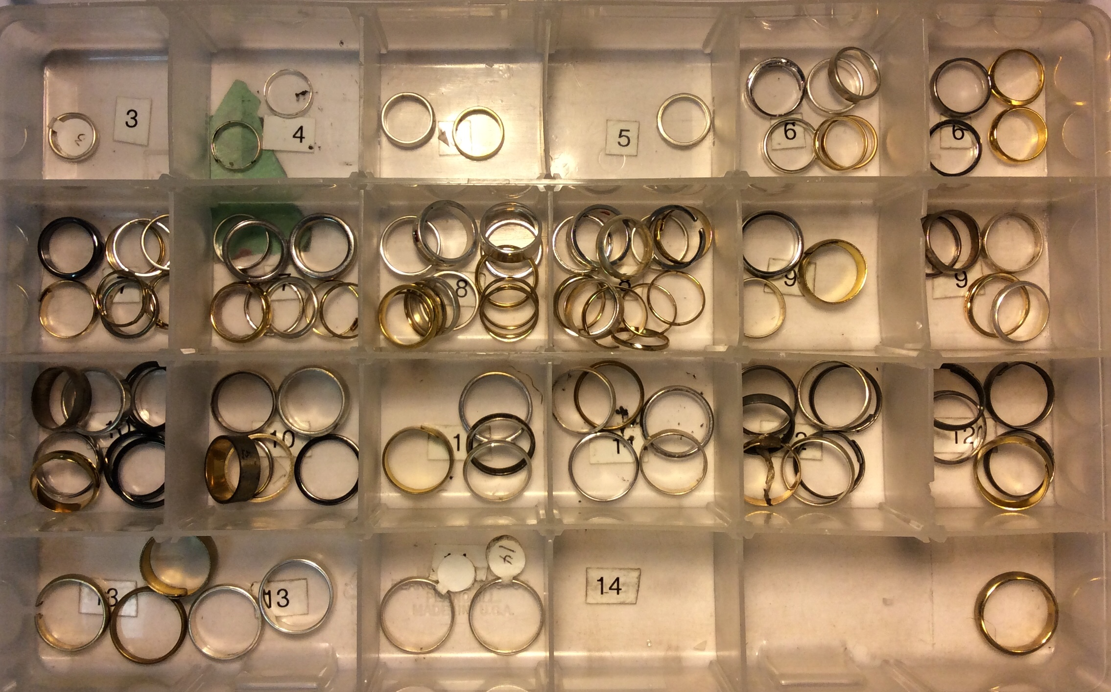Assorted wedding bands