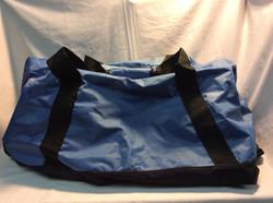 Planet E Blue Nylon Duffle Bag