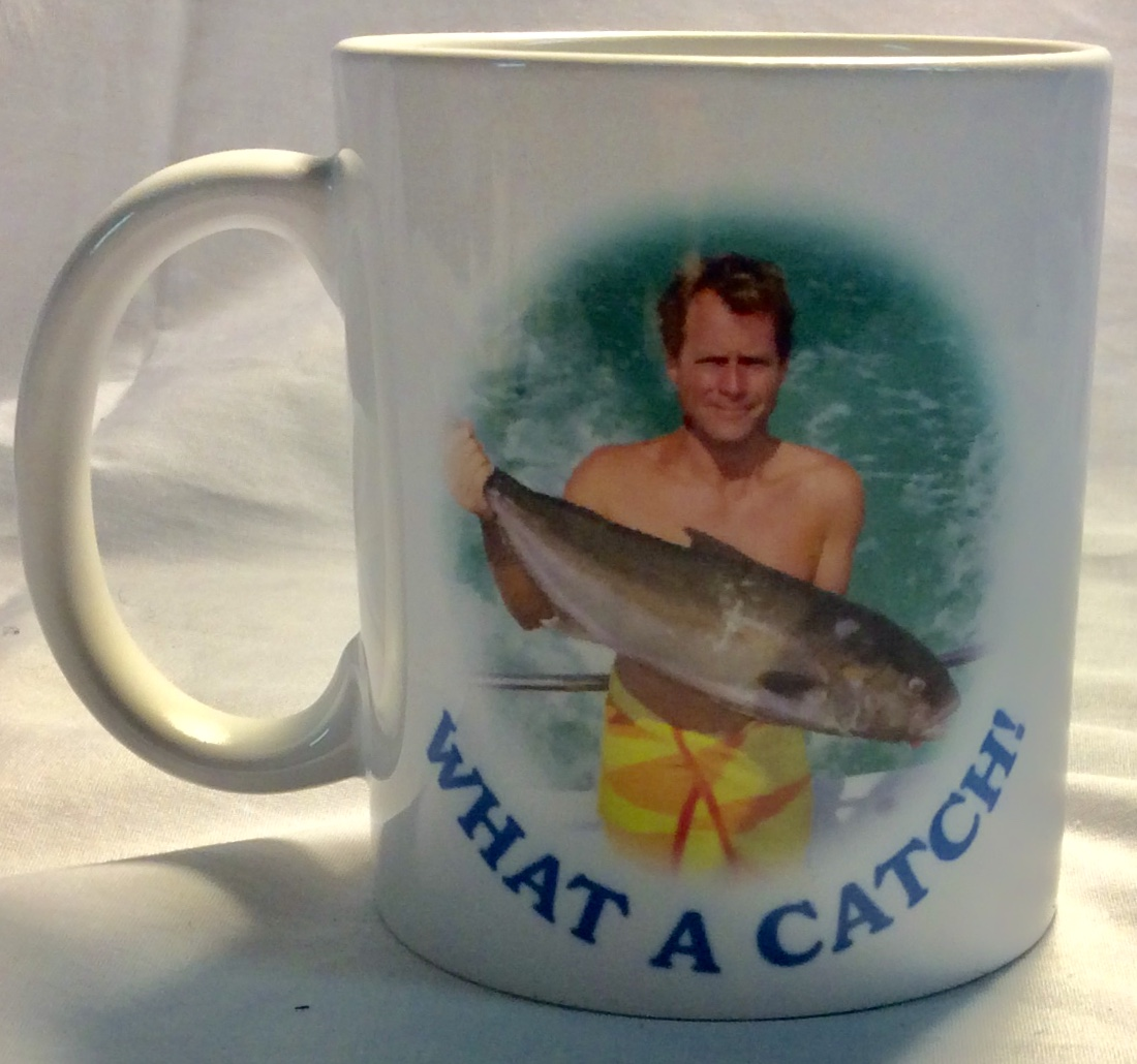 What a catch novelty mug