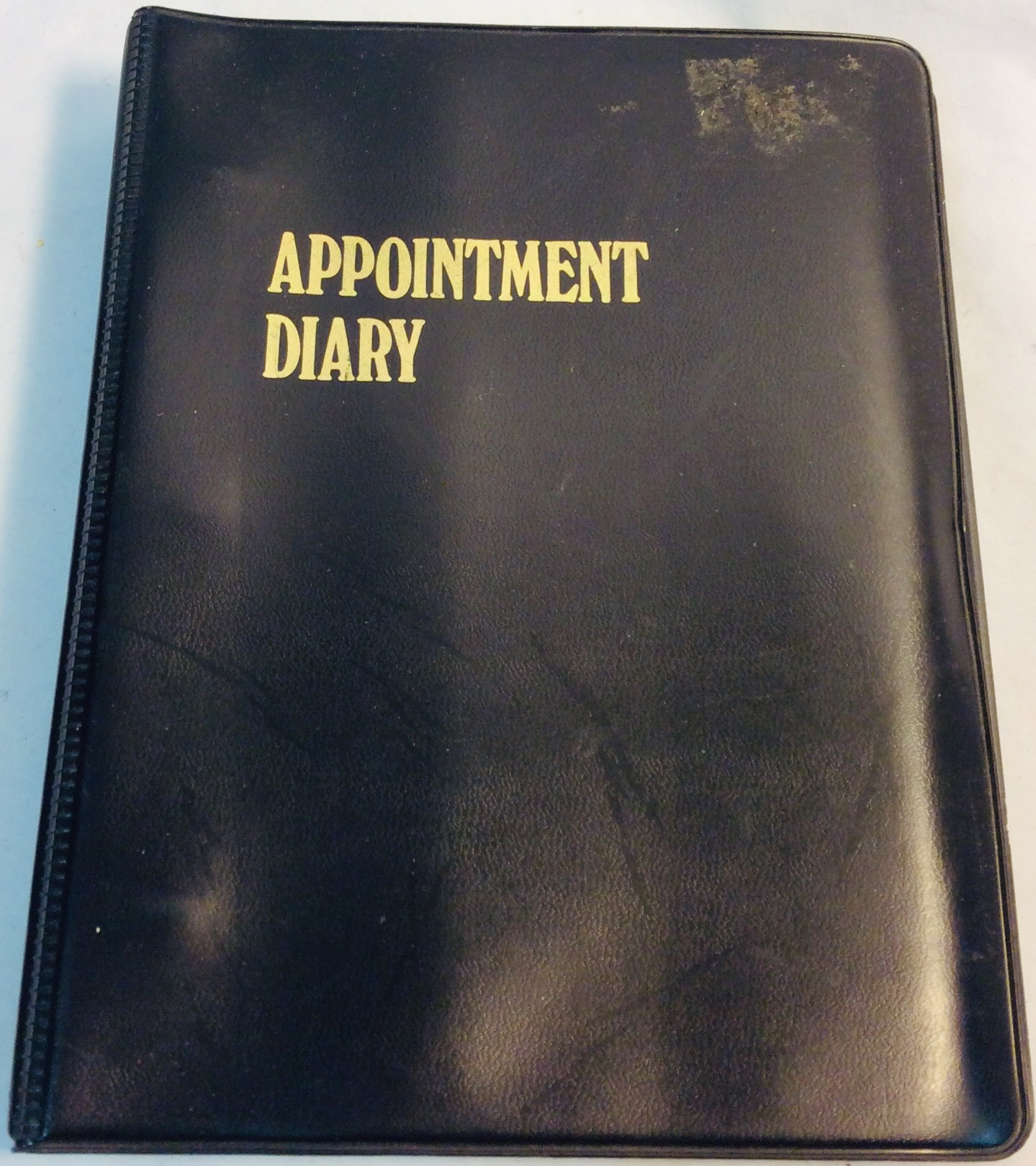 1979 appointment diary with soft cover