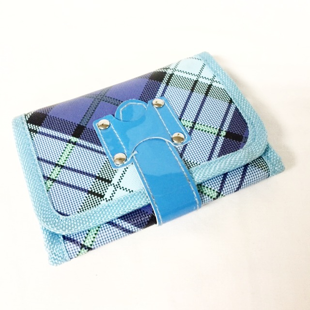 Blue Plaid Wallet