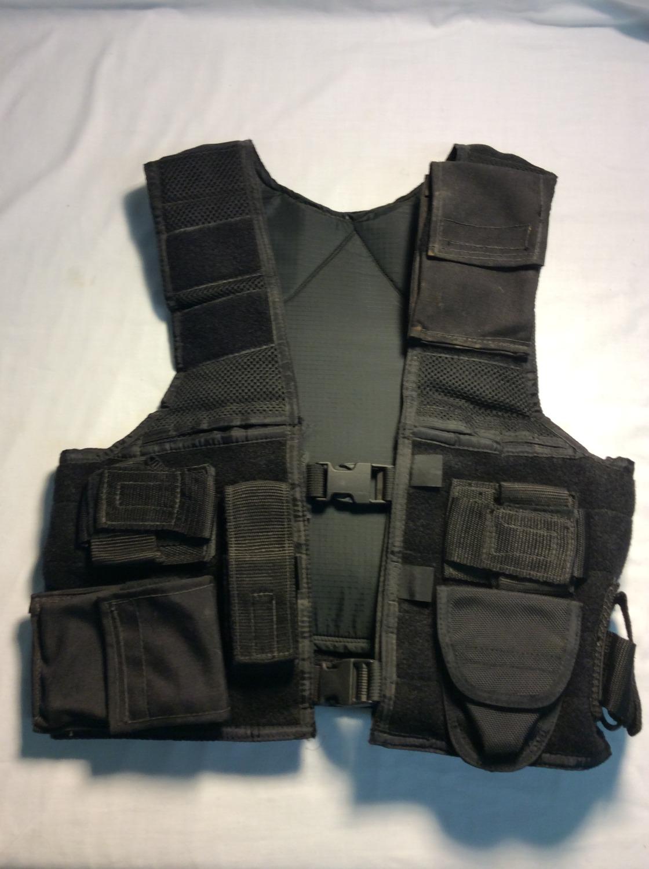 Black multi-pouch SWAT vest