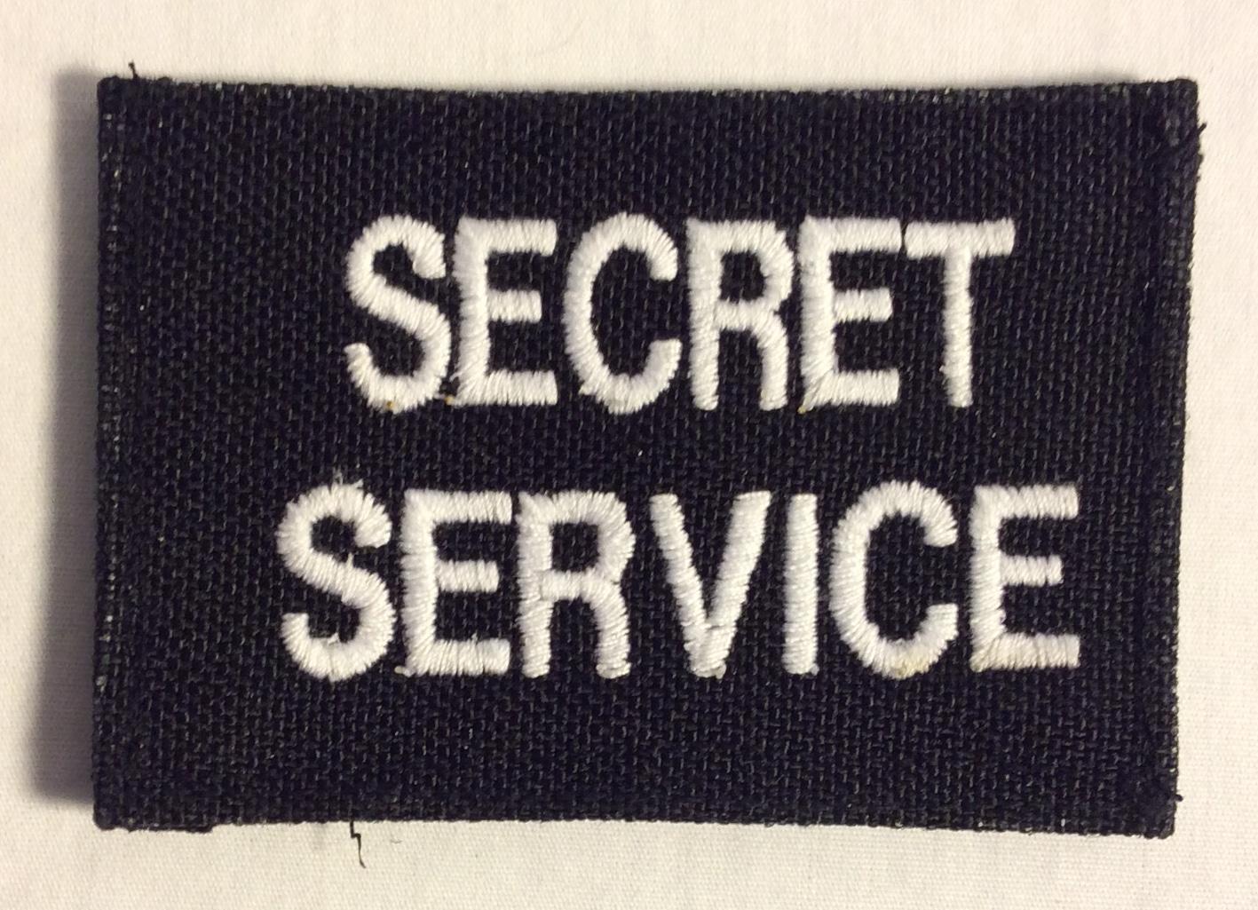 Secret Service Velcro Patches, White