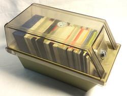 "plastic case of 3.5"" floppy disks"
