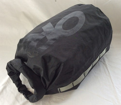 Black OR brand dry-bag with buckle. Gortex-type material