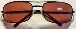 Red lense with black frame