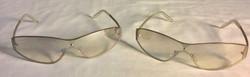 Gradient light grey lens sunglasses