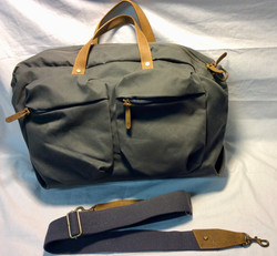 MEC Grey fabric with brown leather