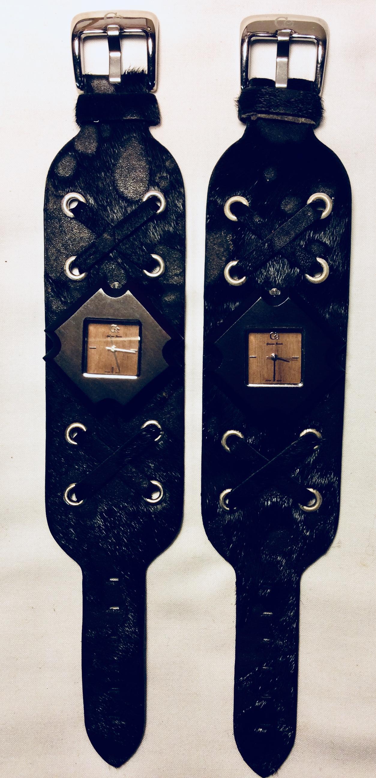 Fur/Leather strap watch