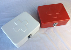 Small metal portable first aid kits (empty)
