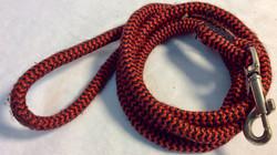 Black and red nylon dog leash