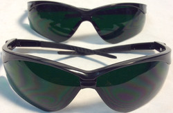 Crew safety glasses with dark green lenses
