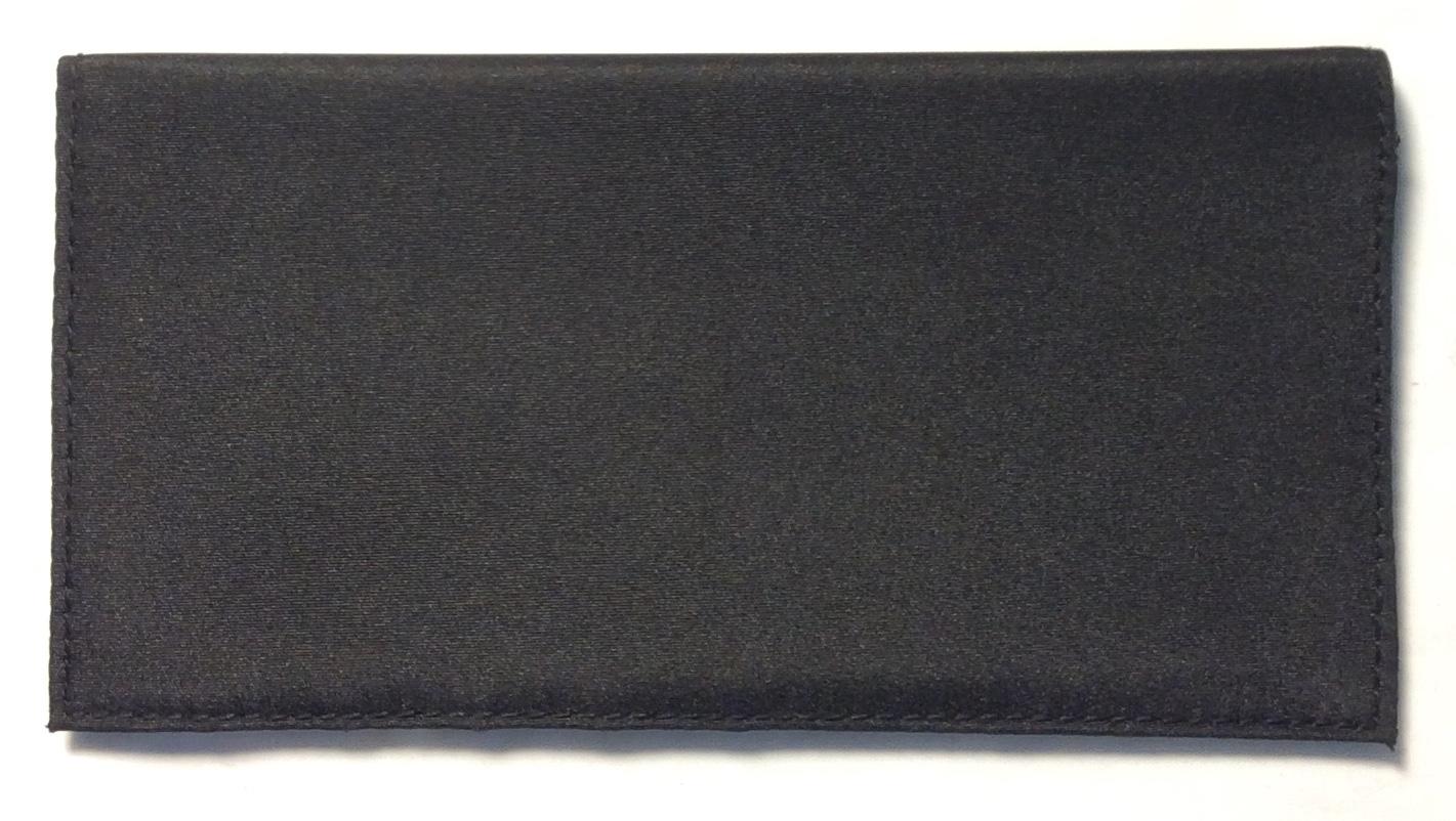 black fabric long bifold slight
