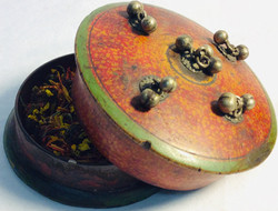 Small decorated box for potions and herbs