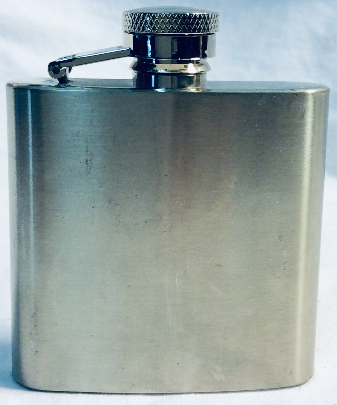 Small 2.5oz basic silver flask