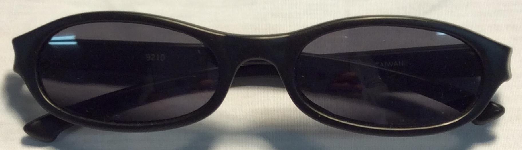 Matte black plastic frames, indent