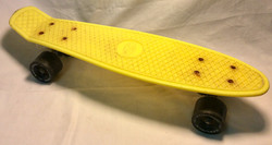 "22"" Yellow plastic penny skateboard"