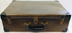 Vintage brown and black hard case luggage