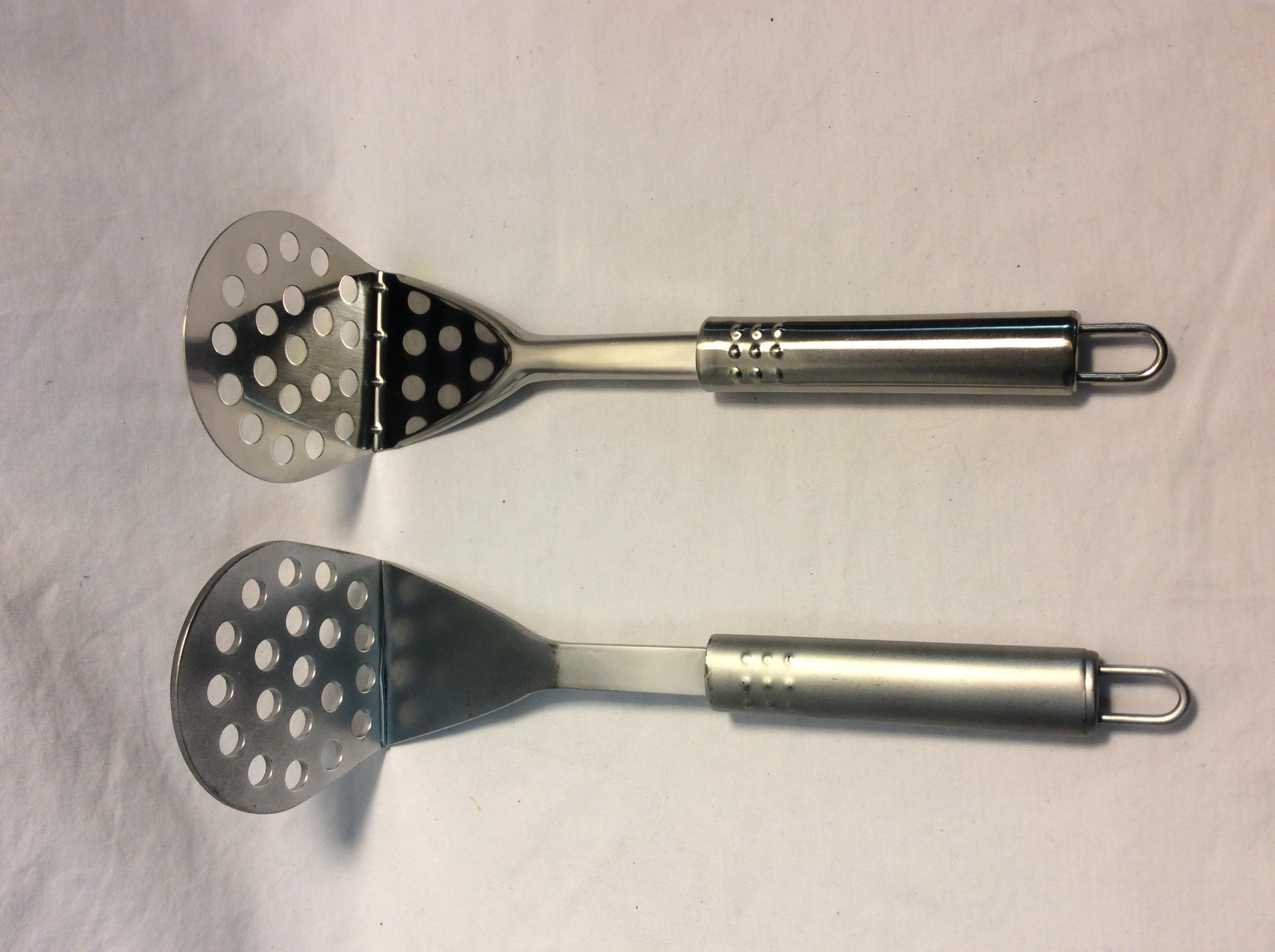 90 angled spatula - 3 plastic and 3 real