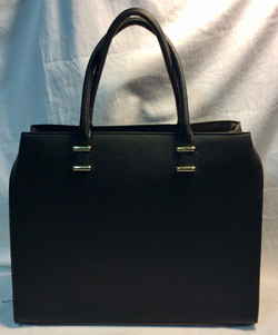 H&M Black vinyl sturdy handbag