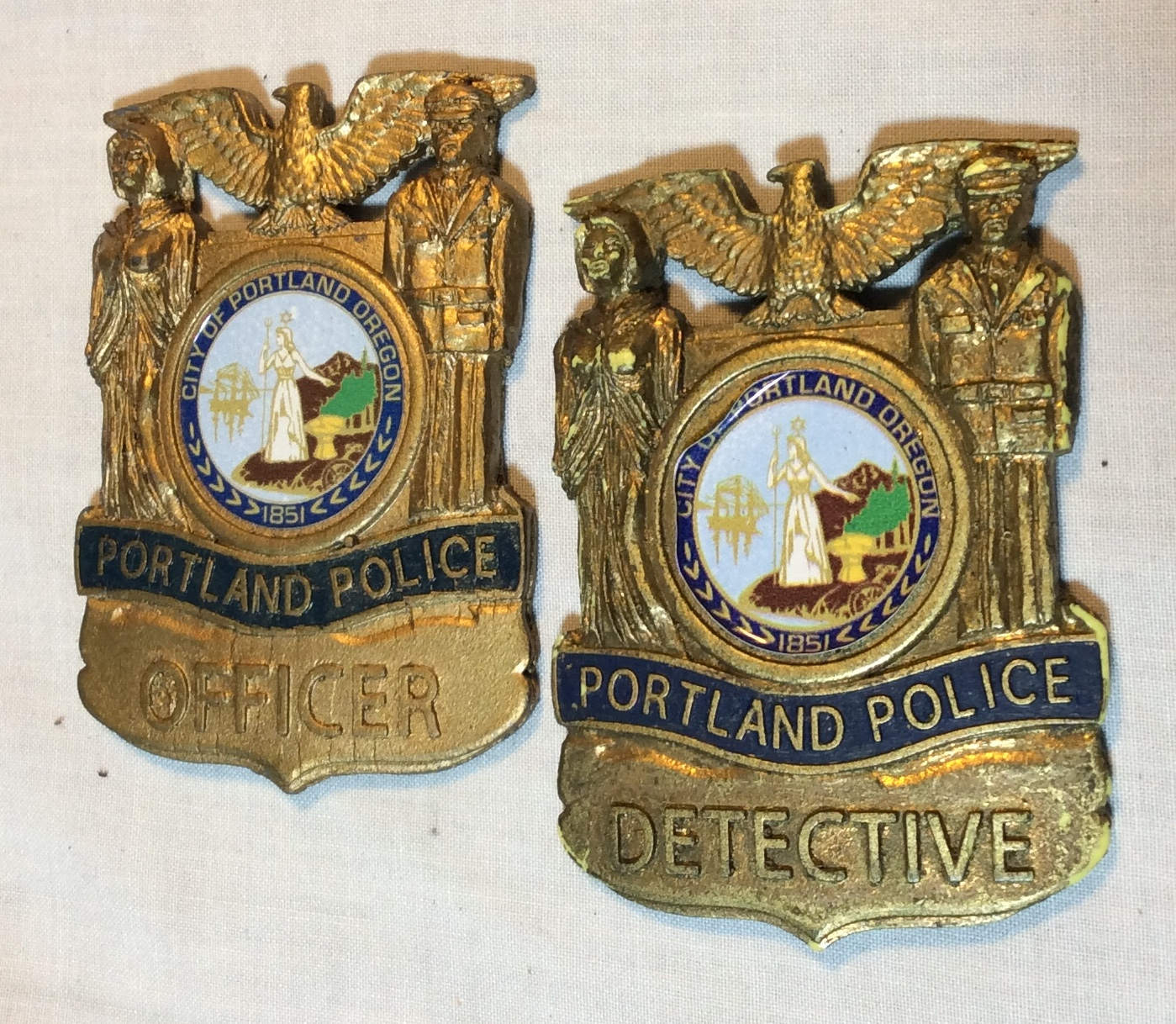 Portland Police Badges (Plastic)