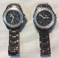 Silver and Black with Silver Diamond