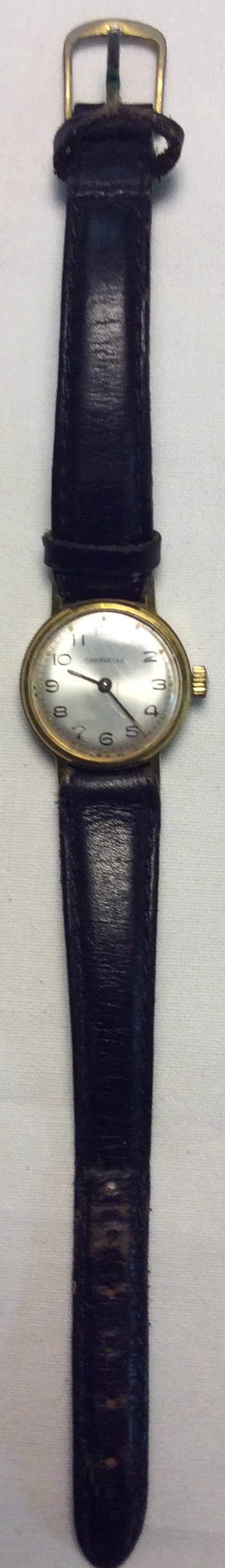Caravelle watch - round pearl face