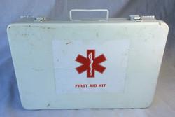 Medium aged first aid kit. Medical symbol design.
