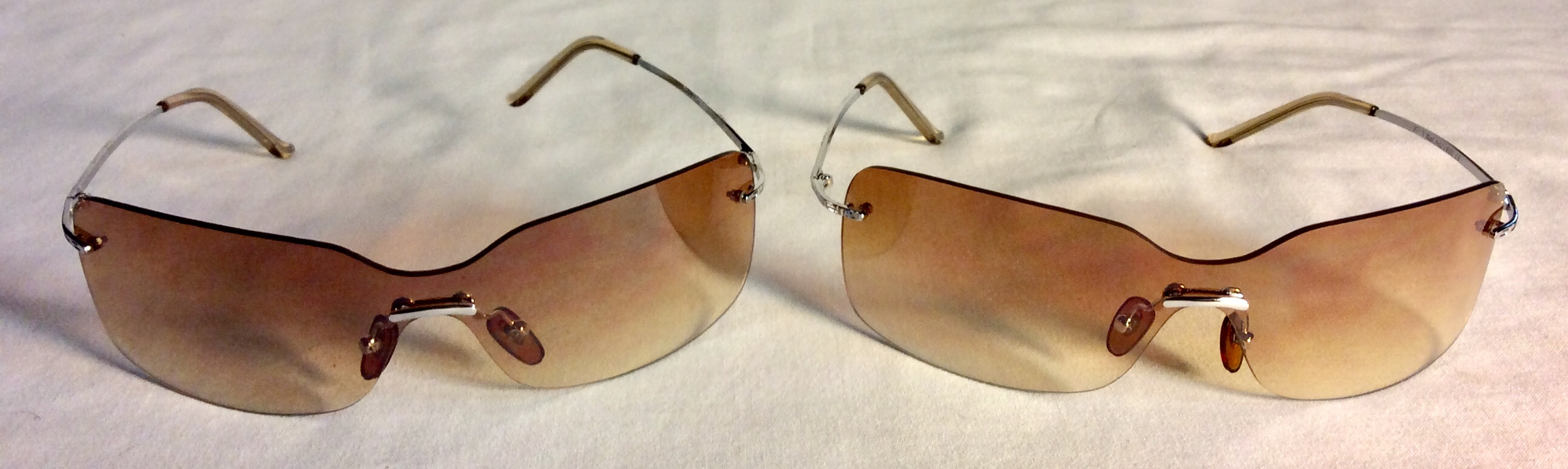 Silver frame sunglasses