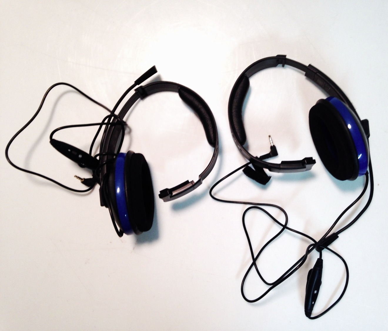Blue Single Sided Headset
