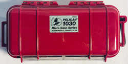 Small long red pelican case