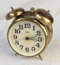 Trenkle Retro analogue alarm clock, gold