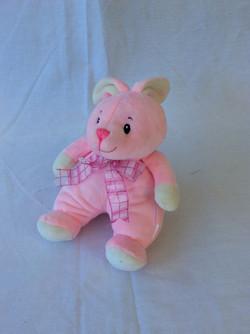 Pink bunny stuffed animal