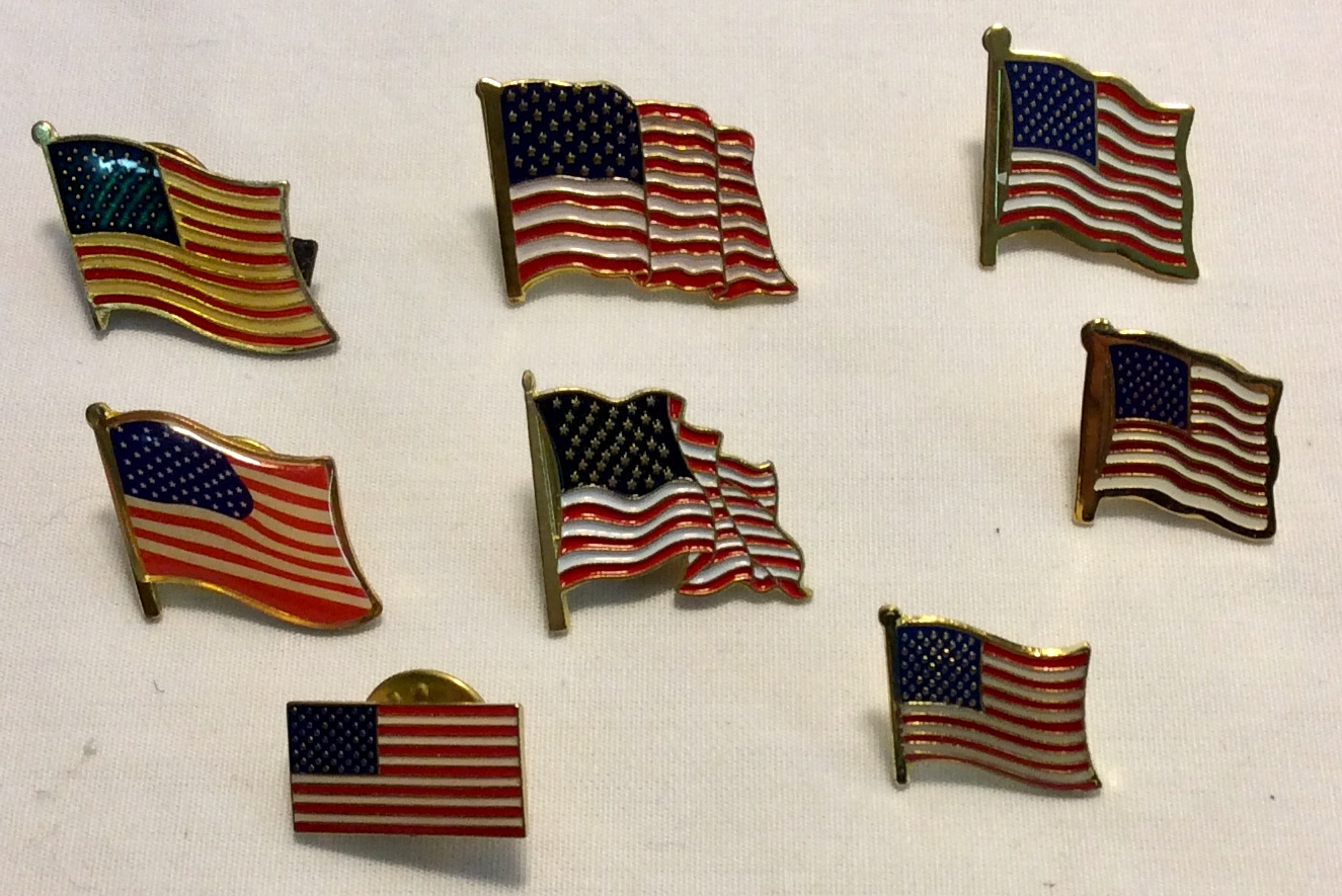 US Flag pins