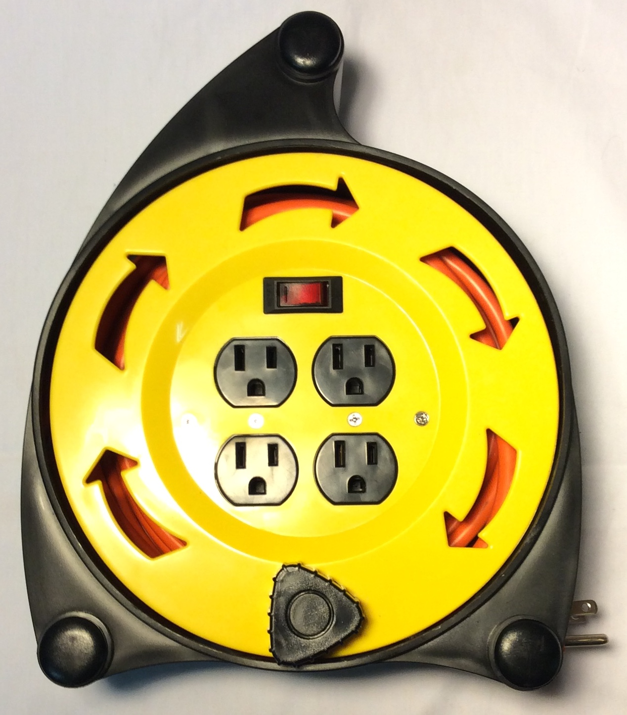 Black stand with Yellow Outlets