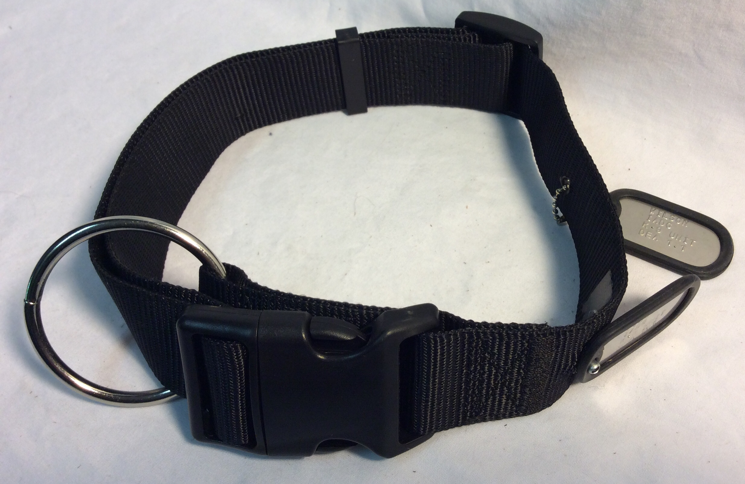 K-9 unit dog collar with wide strap