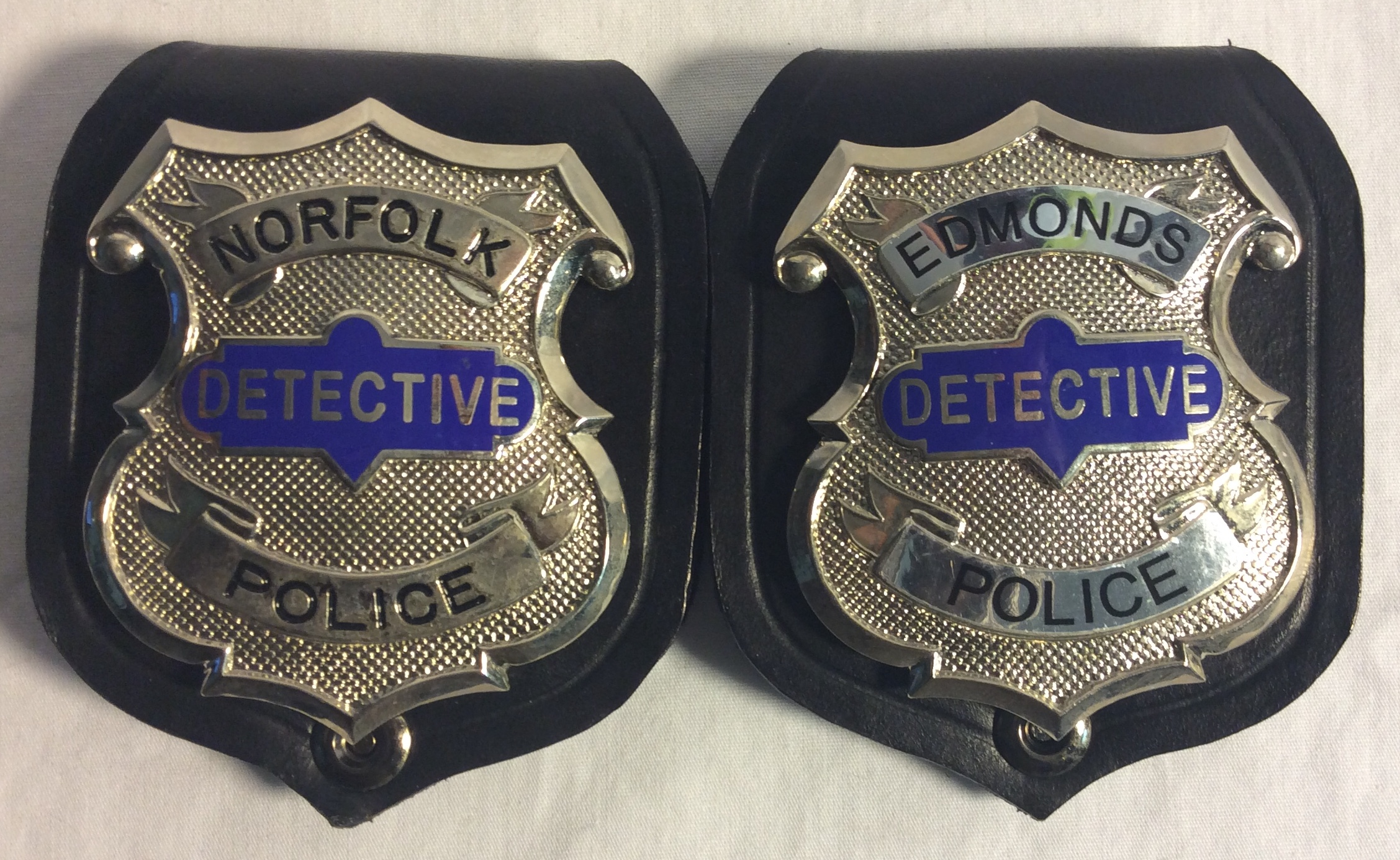 Detective badge on clip-on wallet