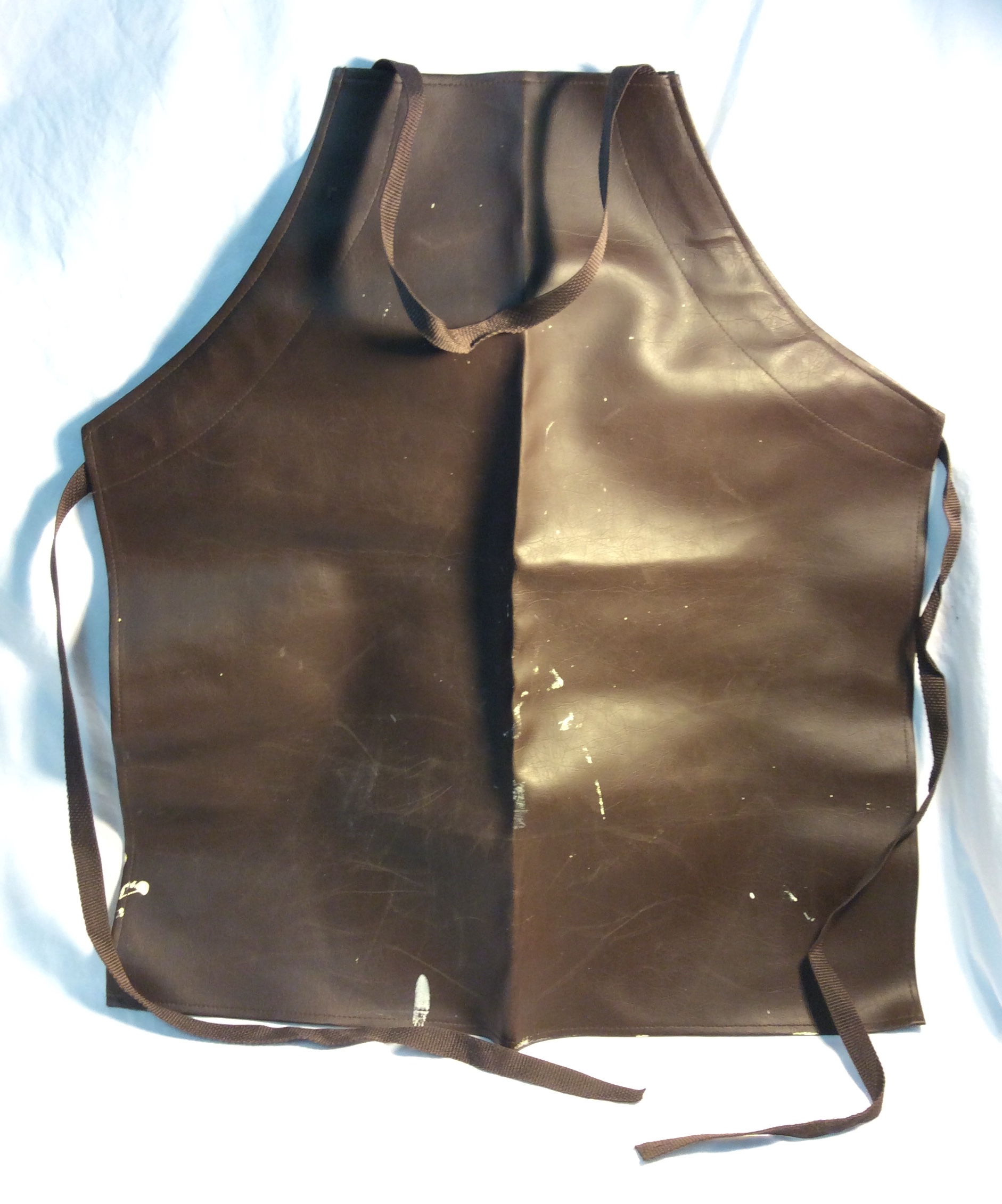 Brown leather apron - for torture or smith -x3