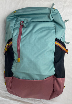 Salmon and Blue outdoorsy backpack