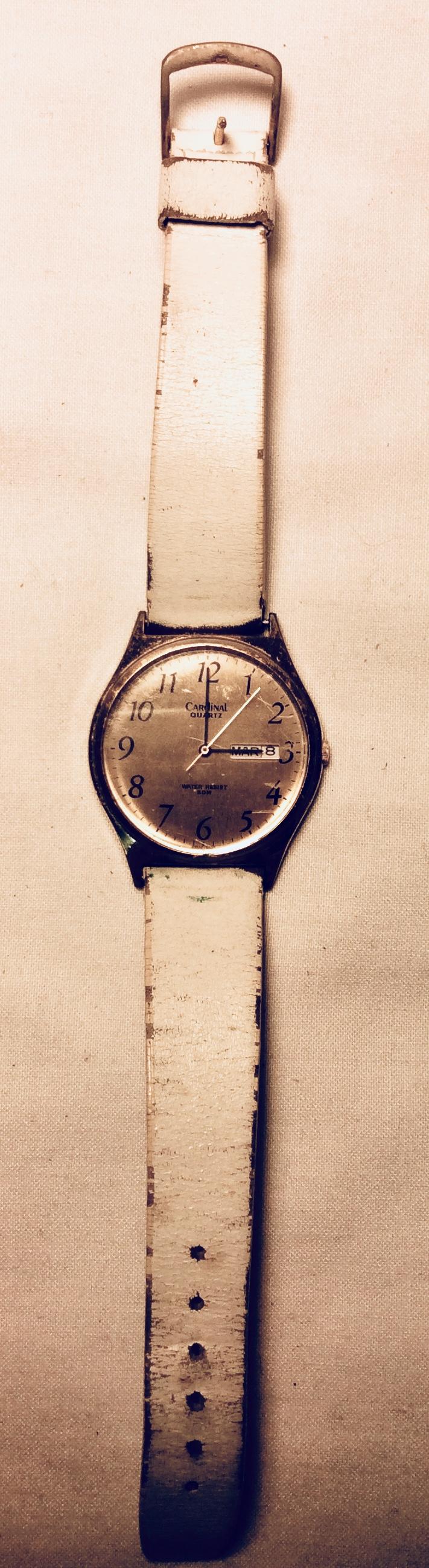 Brass face watch