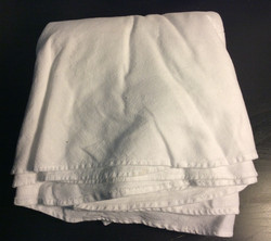 """White round tablecloth 96"""" diameter"""