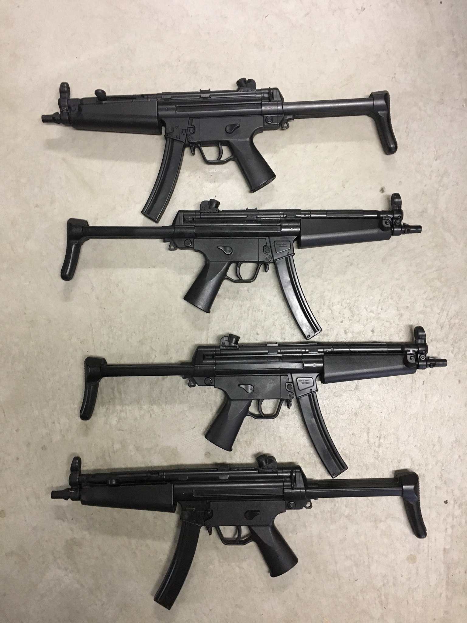 Rubber MP5 Rifles
