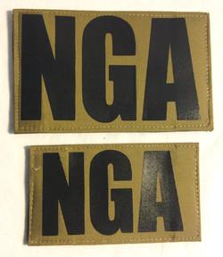 NGA Velcro Patches, large (Back)