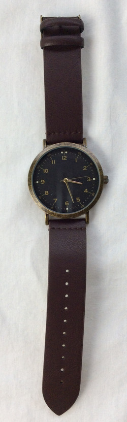 Black and gold modern slick interface with dark leather strap