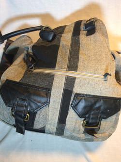 Grey and black shoulder bag