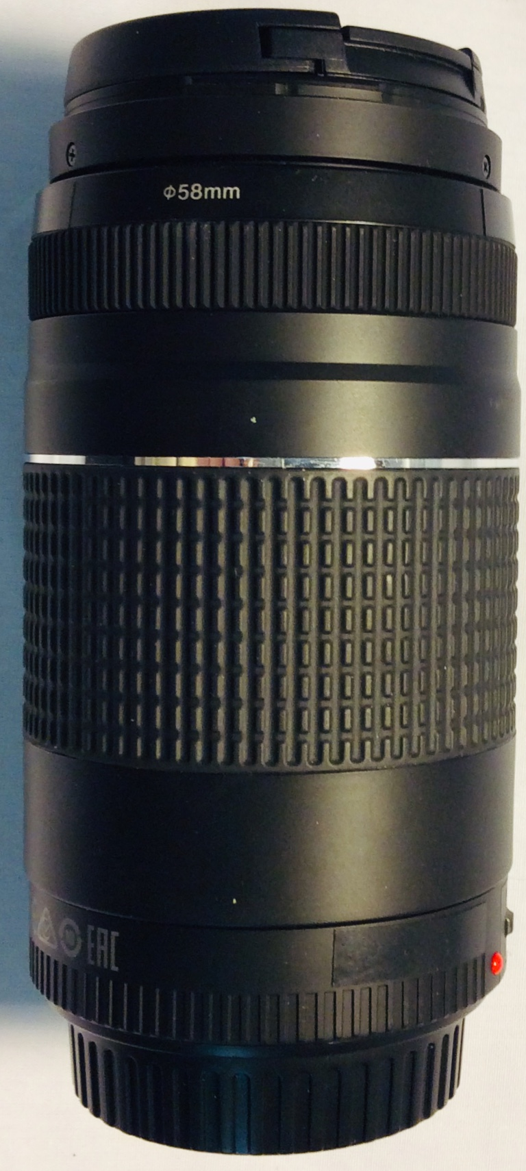 Canon 75-300MM Zoom lens, long black