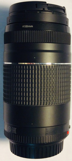 Canon 75-300MM Zoom lens, long black